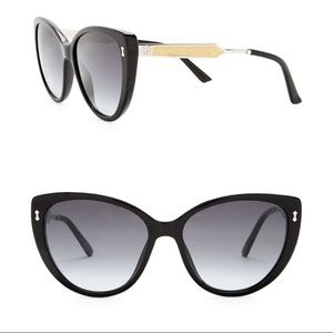 GUCCI Classic Black Cat Eye Sunglasses